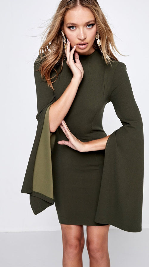 Limelight Dress - Khaki