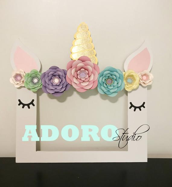 Unicorn Party Frame from Etsy