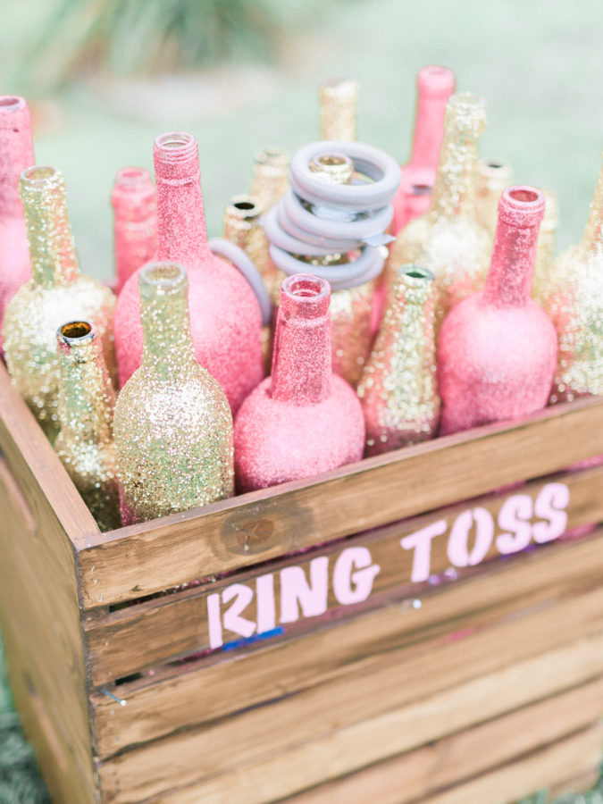 Ring toss game for a unicorn party