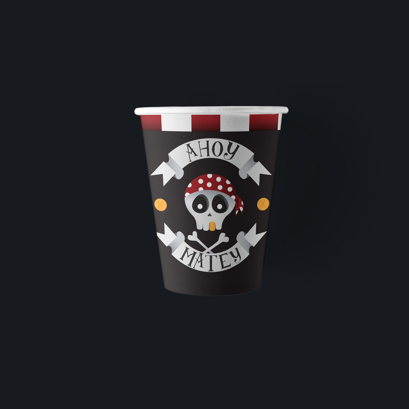 Ahoy Matey Pirate Party Paper Cups