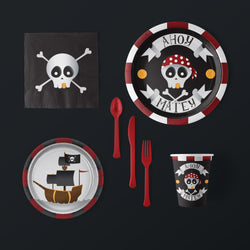 Pirate Party Large Pack with Plates, Napkins, Flatware and Cups