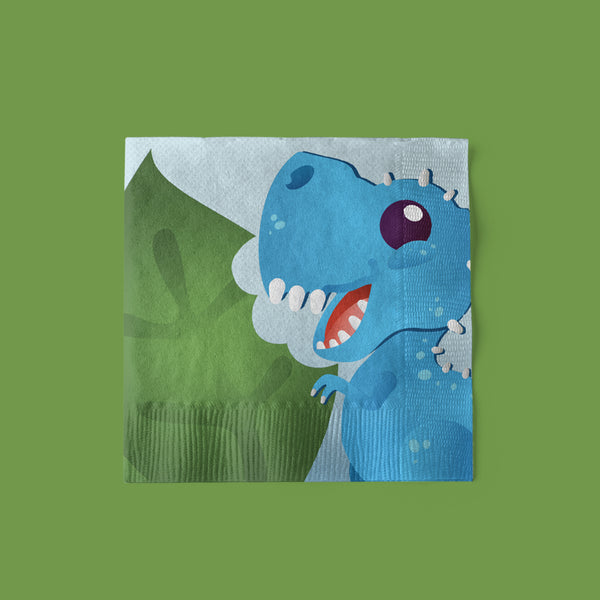 Cake-A-Saurus Dinosaur Party Beverage Napkins