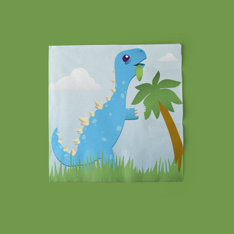 Cake-A-Saurus Dinosaur Party Luncheon Napkins