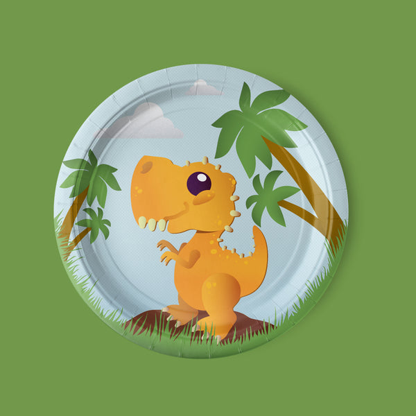 Cake-A-Saurus Dinosaur Party Luncheon Plates