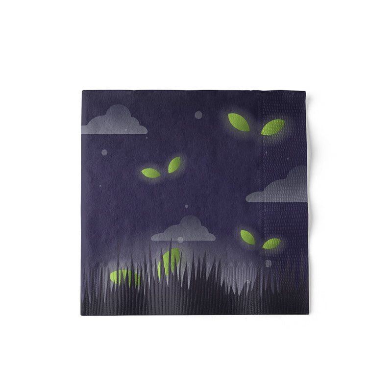 Beverage Sized Halloween Party Napkins with Creepy Pattern