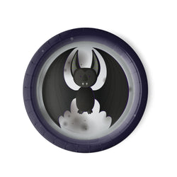 Halloween Party Luncheon Plates measuring 9 inches, Black Bat
