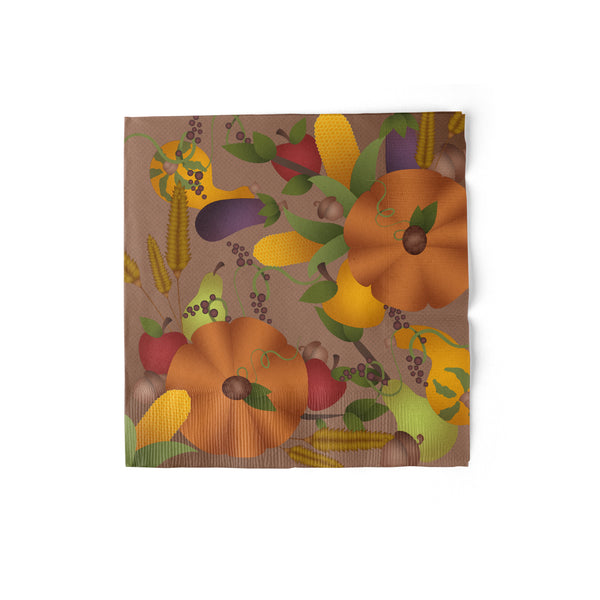 Thanksgiving Luncheon Napkin with pumpkin theme