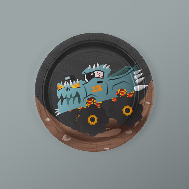 Monster Truck Party Seven-Inch Dessert Plates