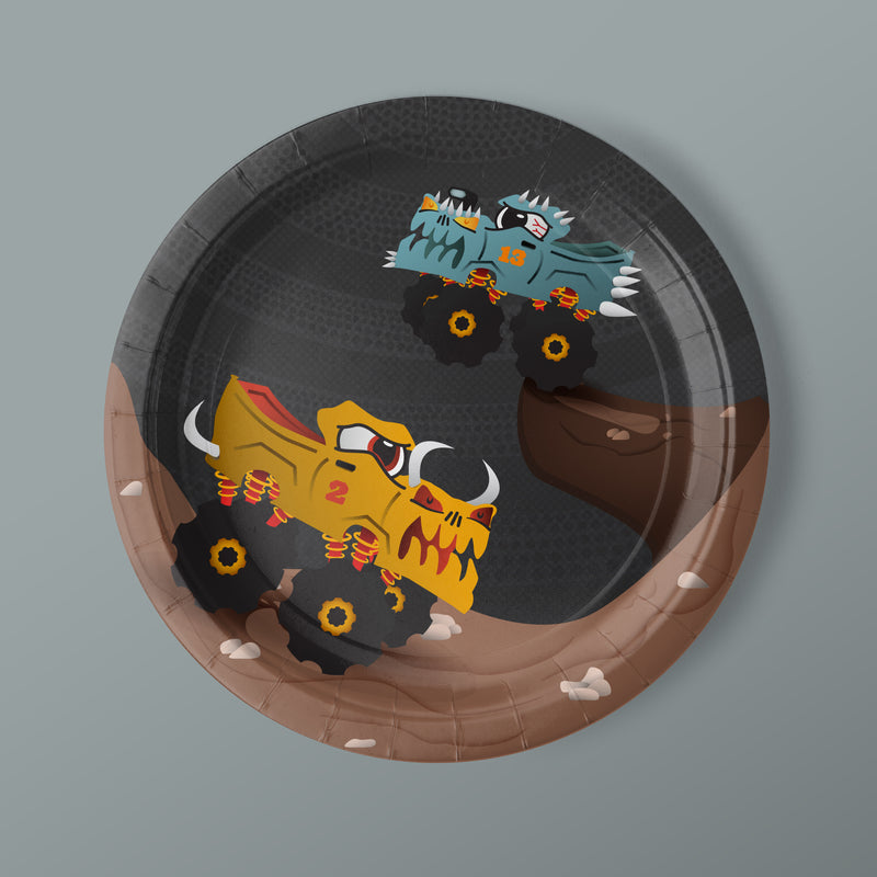 Monster Truck Party Luncheon Plates