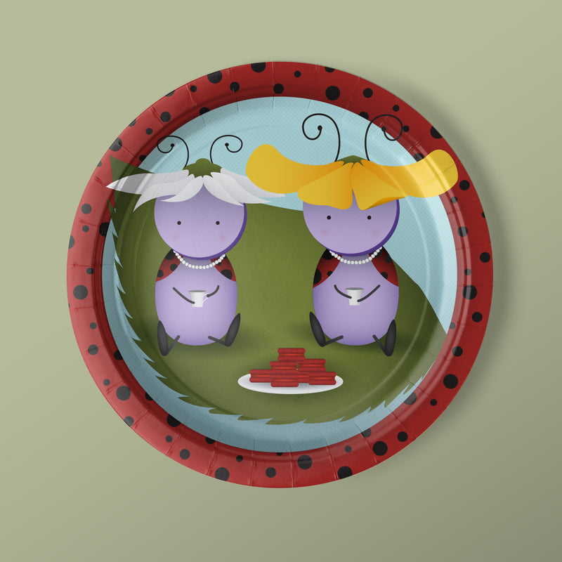 Lady Bug Party Luncheon Plates