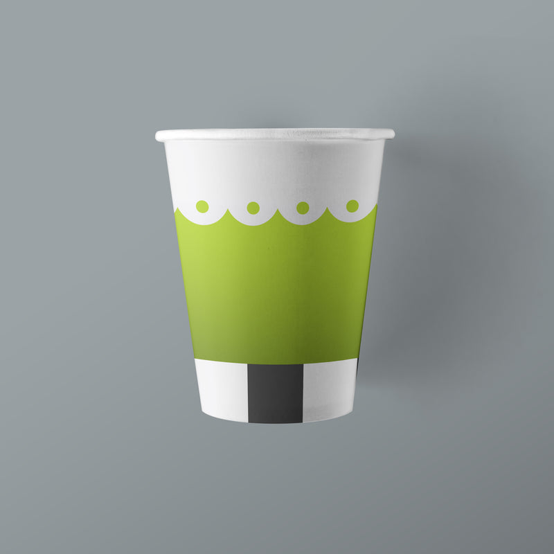 9 ounce Tea Party Themed Paper Cups