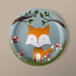 Woodland Creature Party Luncheon Plates