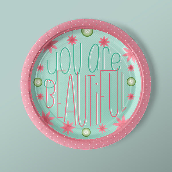 You Are Beautiful Paper Luncheon Plates