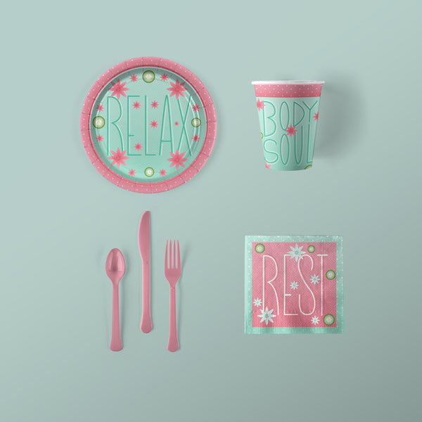 You Are Beautiful Party Small Pack with Plates, Napkins, Flatware and Cups