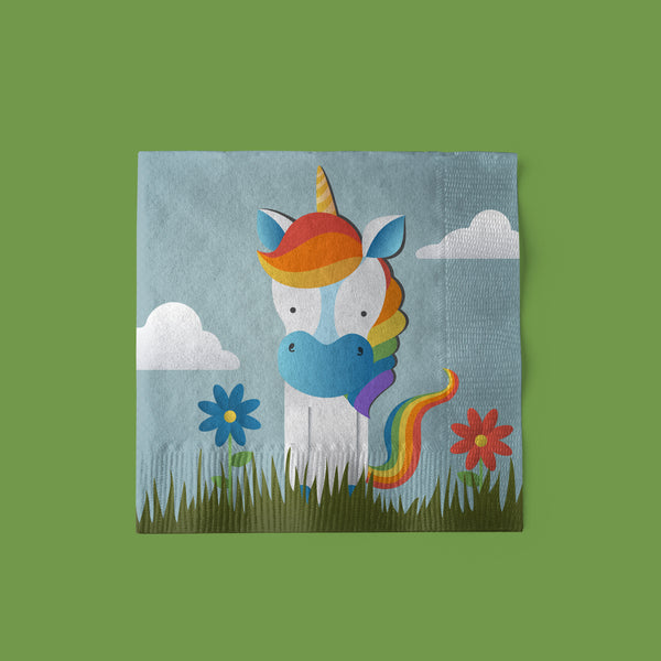 Unicorn Party Beverage Napkins