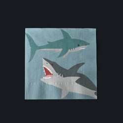 Shark Party Beverage Napkins
