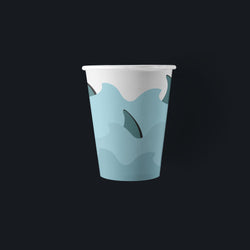 Shark Party Paper Cups