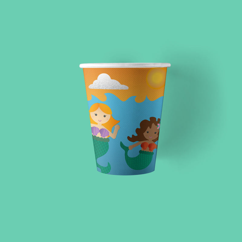9 ounce Mermaid Party Paper Cups