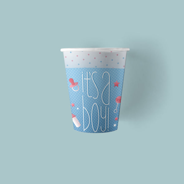 9 ounce It's a Boy Gender Reveal Party Paper Cups