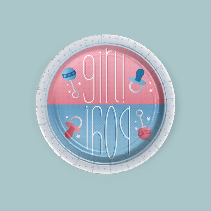 Boy or Girl Gender Reveal Dessert Plates