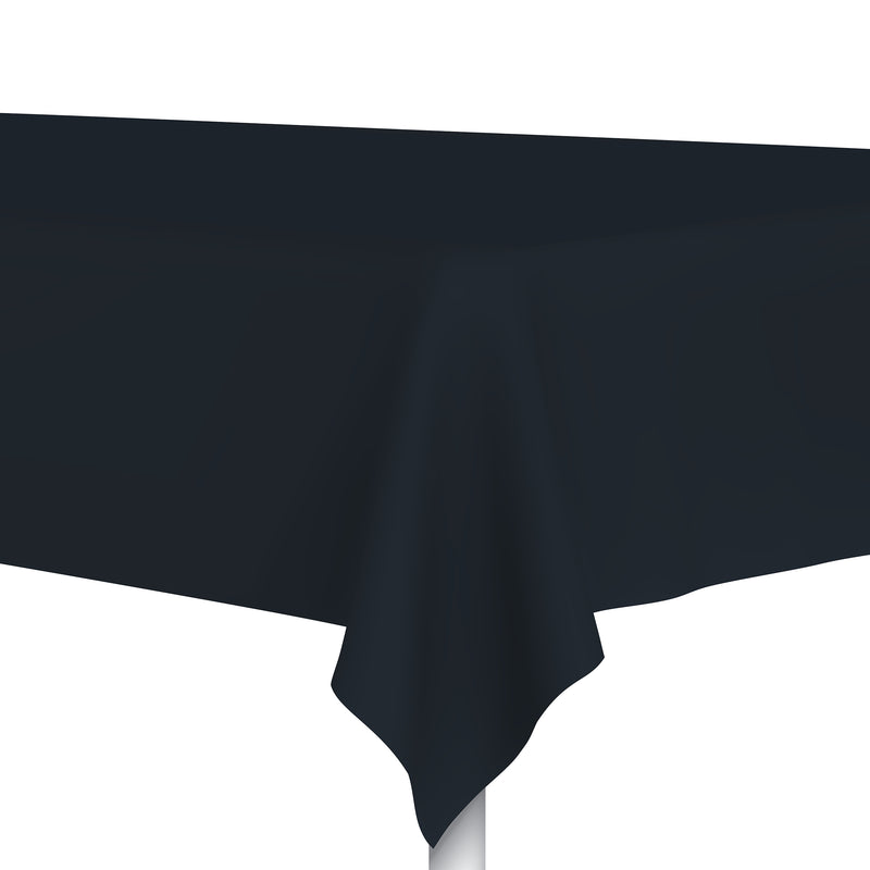 Charcoal Black Plastic Tablecloth, Party Table Cloth