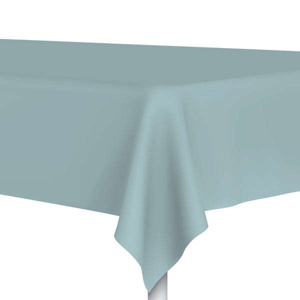 Dusty Blue Plastic Tablecloth, Party Table Cloth