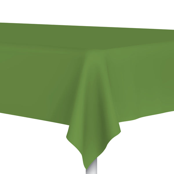 Grassy Green Plastic Tablecloth