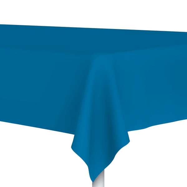 Plastic Ocean Blue Tablecloth
