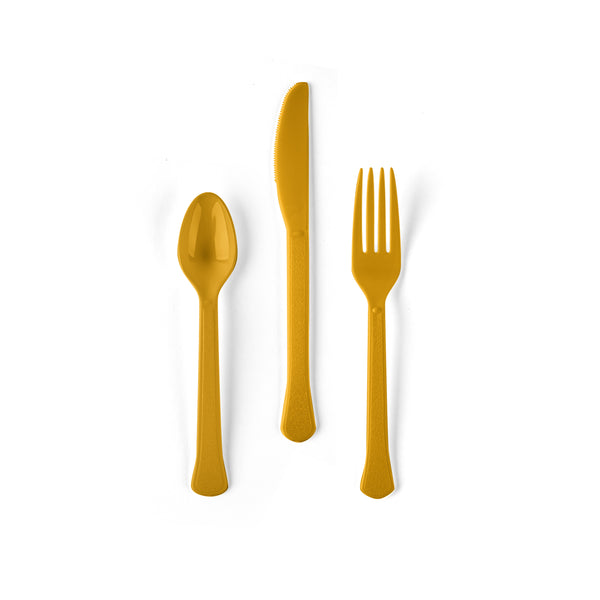 24 count Yellow Sunflower Cutlery Set