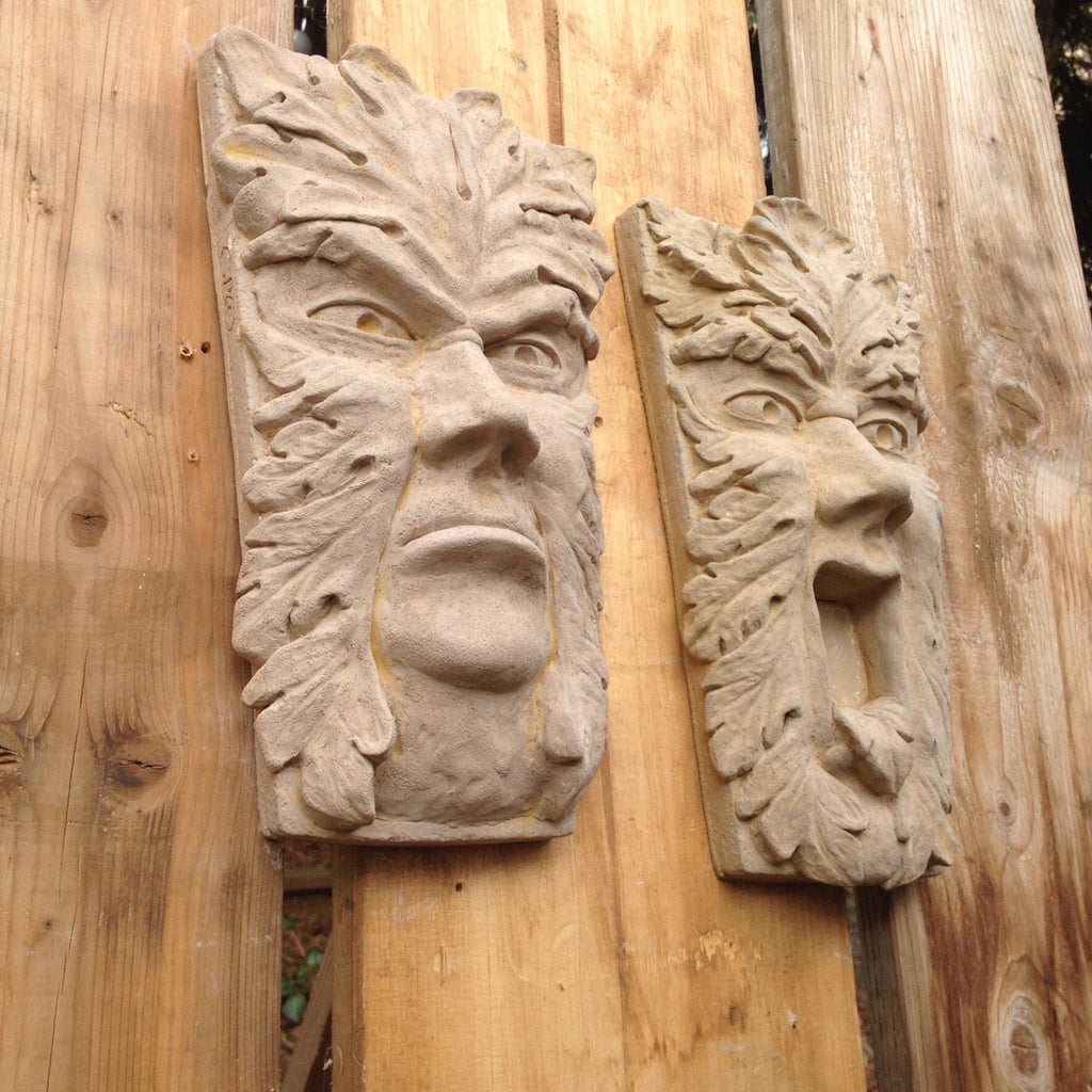 Green man carving chainsaw carving of a green man by steveu flickr
