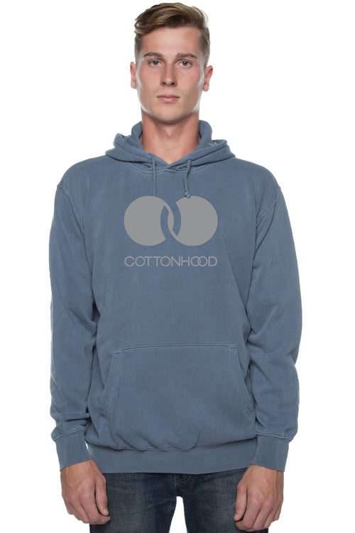 Trademark Pigment Dyed Hoodie Blue - COTTONHOOD
