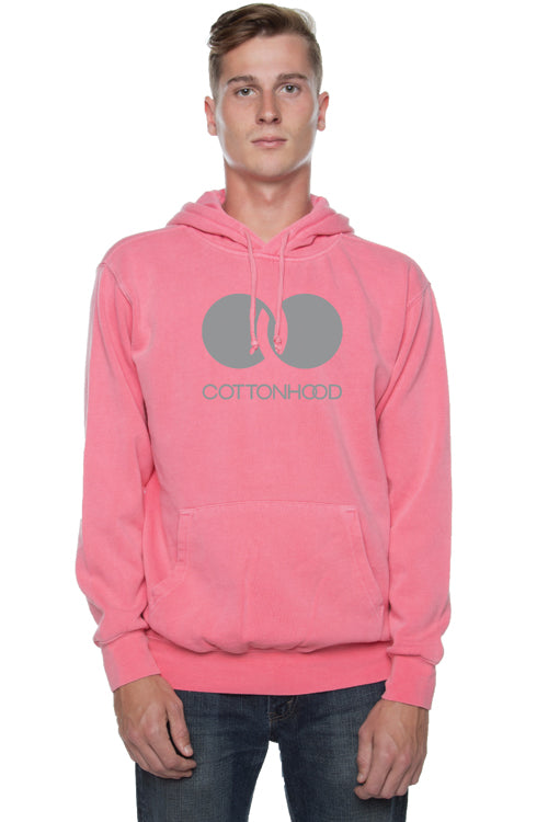 Trademark Pigment Dyed Hoodie Pink - COTTONHOOD
