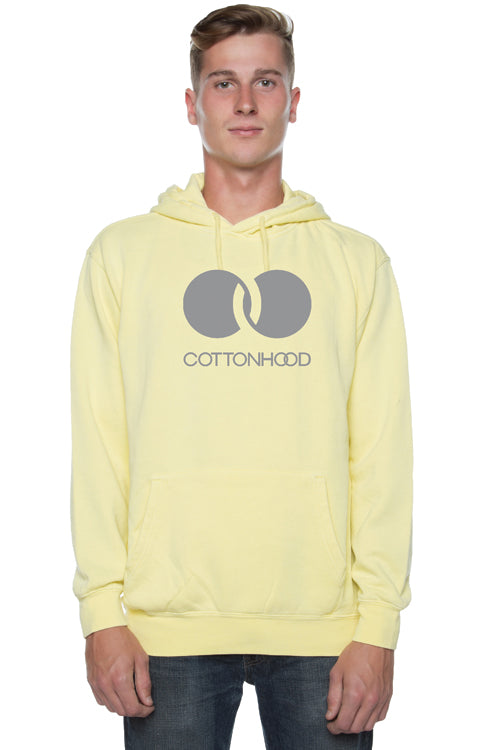 Trademark Pigment Dyed Hoodie Yellow - COTTONHOOD