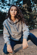 Misses Box Hoodie Heather Grey - COTTONHOOD