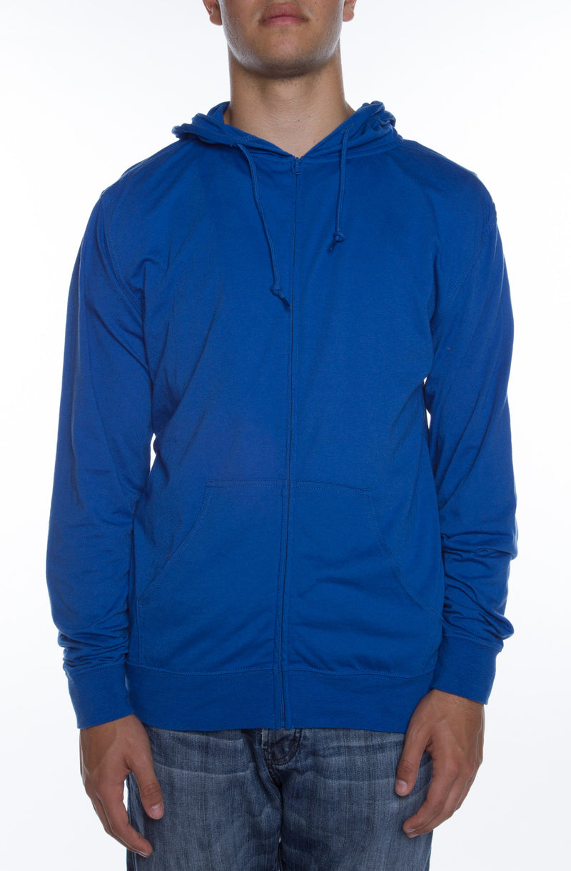 Men's Zip Beach Jersey Hoodie Royal