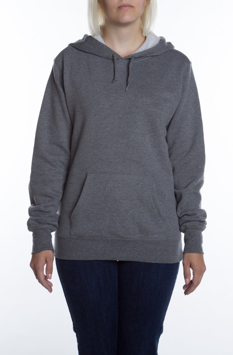 Women's Basic Hoodie Gunmetal - COTTONHOOD