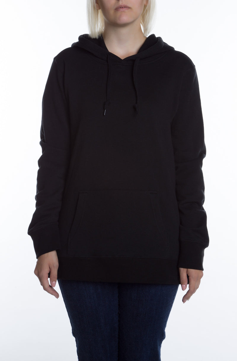 Women's Basic Hoodie Black - COTTONHOOD