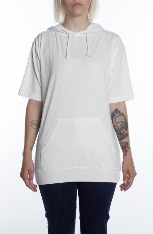 Women's S/S Beach Jersey Hoodie White - COTTONHOOD