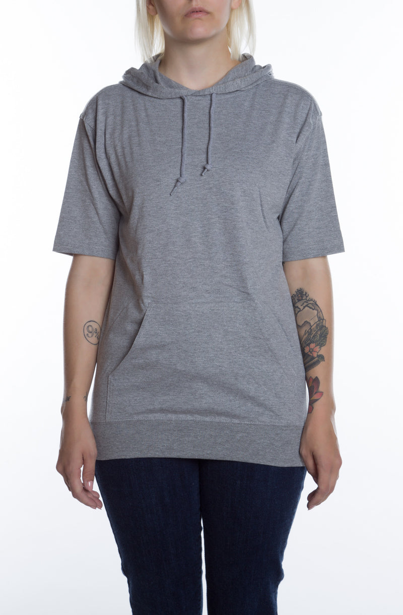 Women's S/S Beach Jersey Hoodie Heather Grey