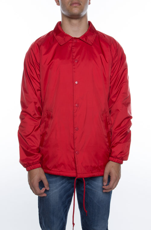 Coaches Jacket Red - COTTONHOOD