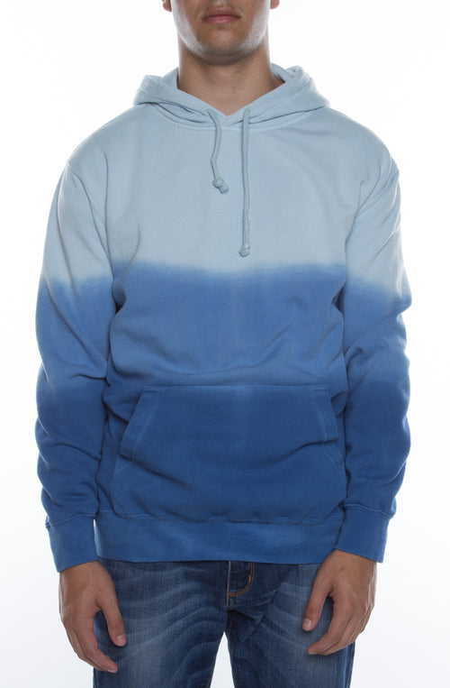 Men's Pigment Triple Dipped Dyed Hoodie Blue