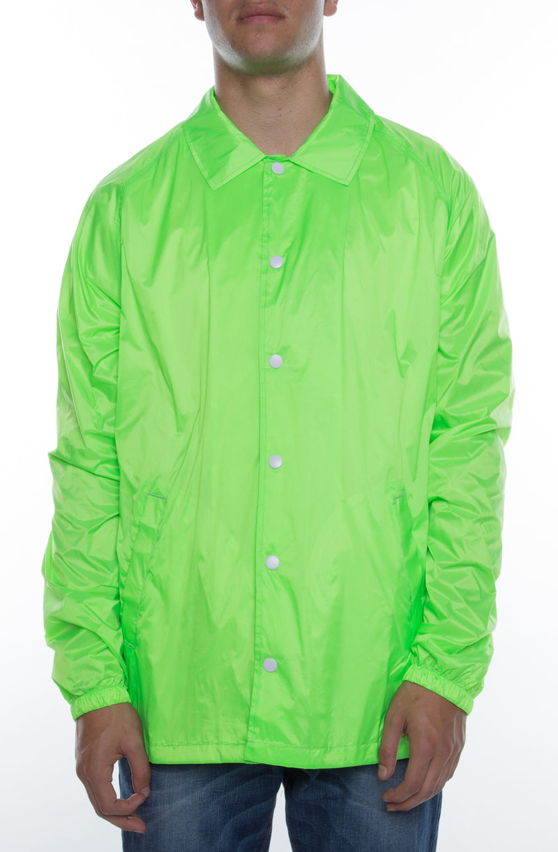 Coaches Jacket Fluorescent Green - COTTONHOOD
