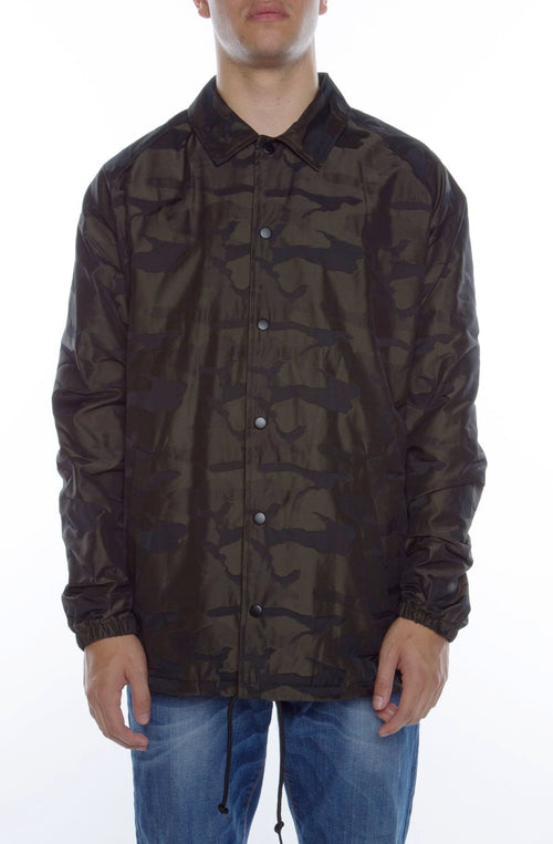 High-Low Camo Coaches Jacket