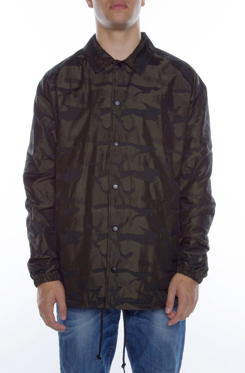 High-Low Camo Coaches Jacket - COTTONHOOD