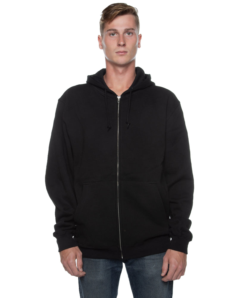 Men's Basic Zip Hoodie Black - COTTONHOOD