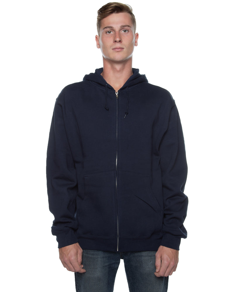 Men's Basic Zip Hoodie Deep Navy - COTTONHOOD