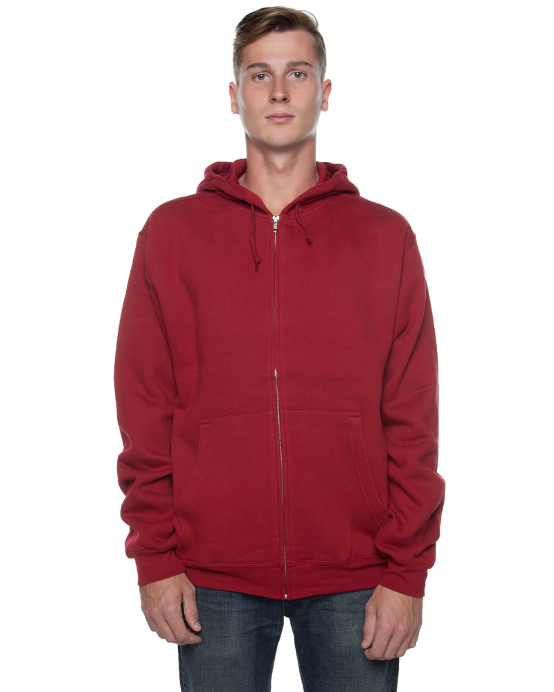 Men's Basic Zip Hoodie Cardinal - COTTONHOOD