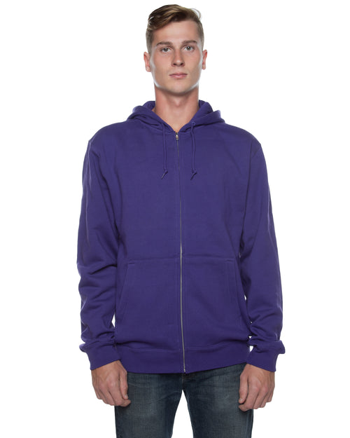 Men's Basic Zip Hoodie Purple - COTTONHOOD