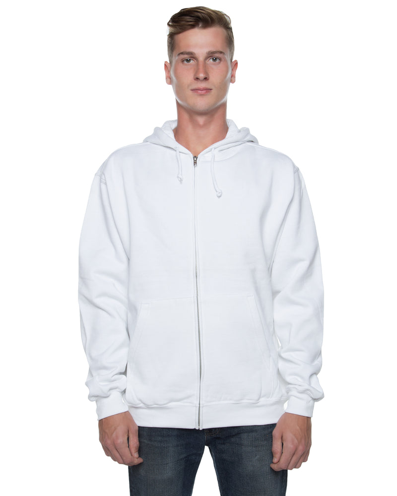 Men's Basic Zip Hoodie White - COTTONHOOD