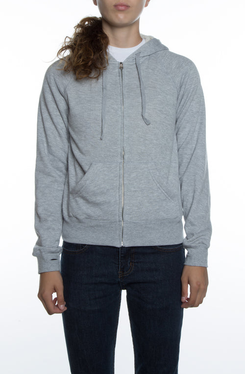Women's Lightweight Sherpa Lined Hoodie Heather Grey/Natural - COTTONHOOD